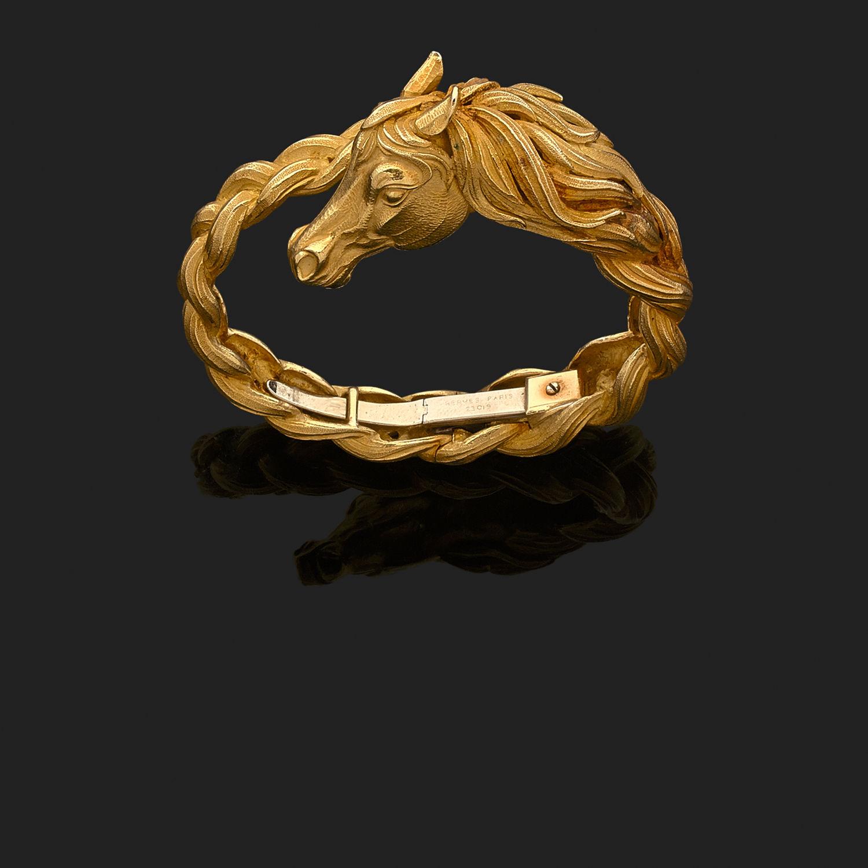 efb6108a83b6 Bracelet Hermès Tête de Cheval - Or jaune 750° oo (18k) - 9581 ...