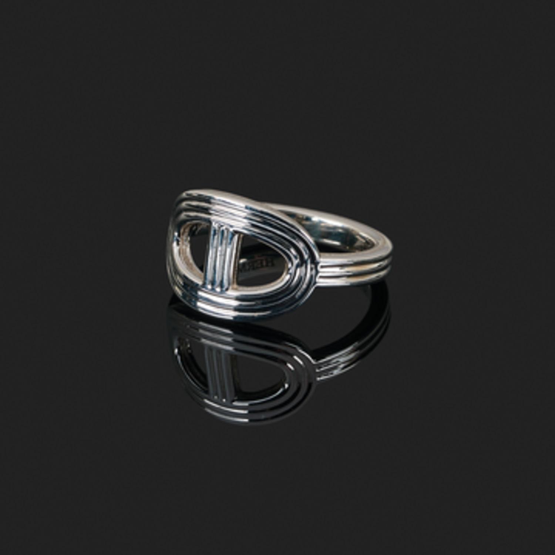 Bague Hermès Chaîne d Ancre 24 - Argent - 10591 - Mikaël Dan. Bague Hermès  Chaîne. Bracelet Chaîne d Ancre HERMES d occasion   Ref 41757 - Cresus 2a6c3a68048