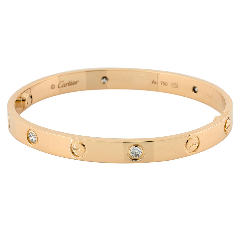 bracelet cartier love or jaune 750 oo 18k 14378. Black Bedroom Furniture Sets. Home Design Ideas