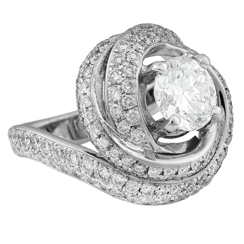 vendre bague or blanc et diamant