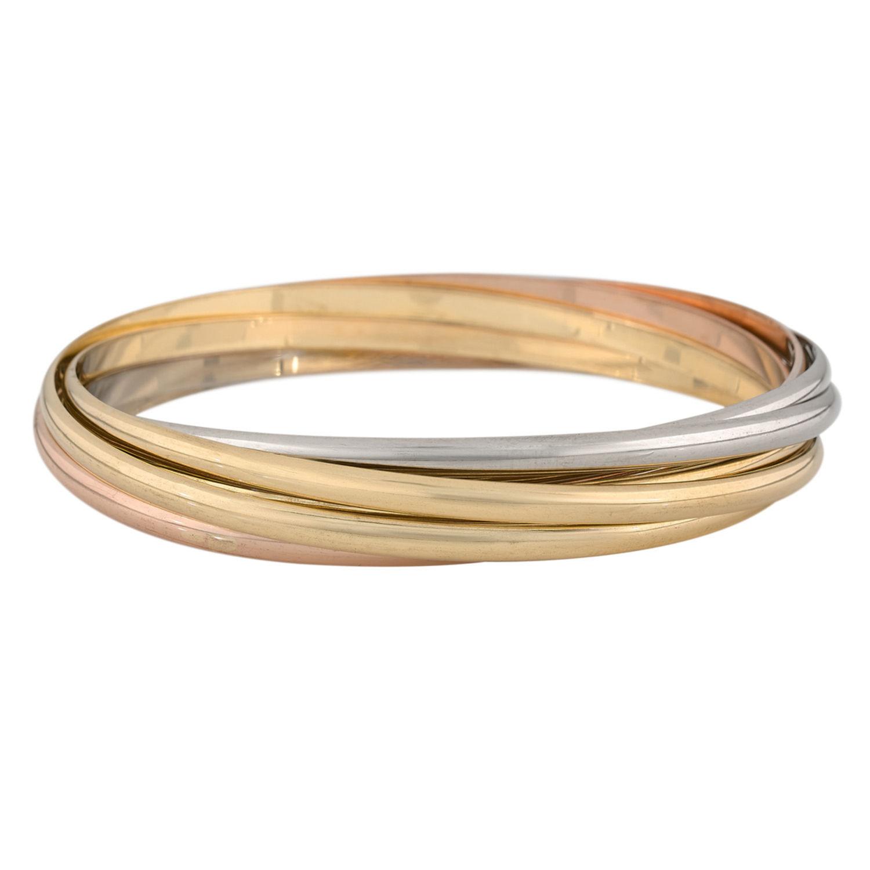 bracelet 3 ors cartier occasion. Black Bedroom Furniture Sets. Home Design Ideas