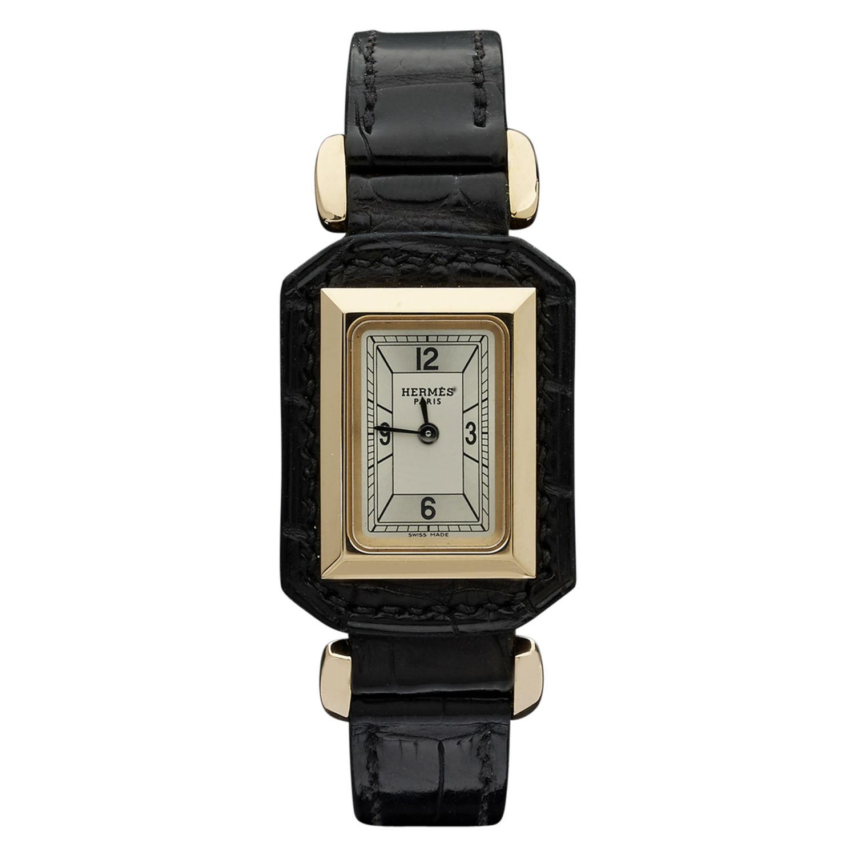 Montre Hermès Hauteville - Or rose 750° oo (18k) - 7717 - Mikaël Dan 9155b1c9d45