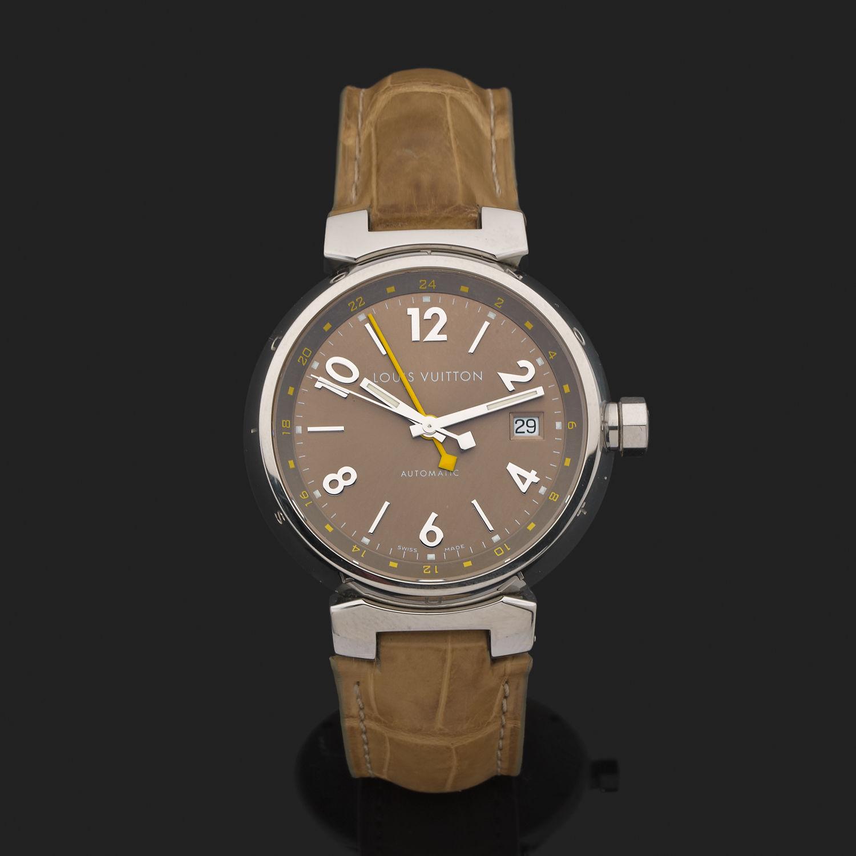 Montre Louis Vuitton Tambour GMT - Acier - 6839 - Mikaël Dan 12b13ef5691