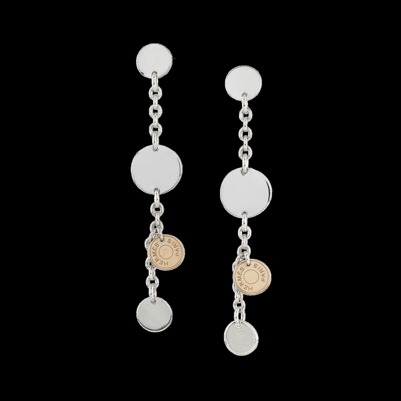 fa30889d121 Boucles d oreilles Hermès Confettis - Or rose 750° oo (18k) et ...
